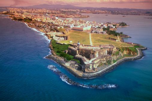 View Into Land「Aerial view of San Felipe Fort in San Juan, Puerto Rico」:スマホ壁紙(18)