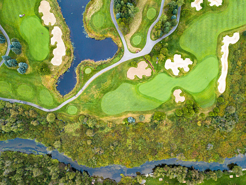 Sand Trap「Aerial view of a golf course」:スマホ壁紙(16)