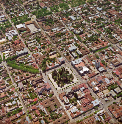 1980-1989「Aerial view downtown plaza, city of Talca」:スマホ壁紙(7)