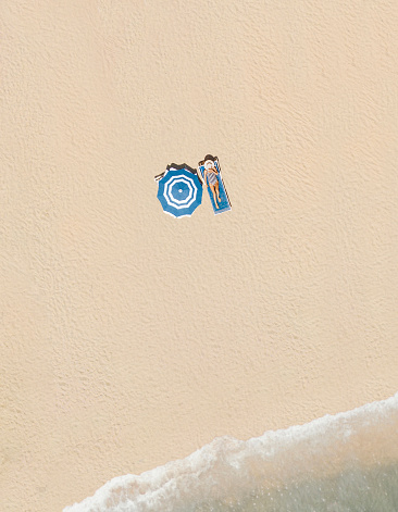 リラクゼーション「ビーチの空中風景」:スマホ壁紙(10)