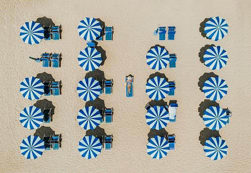 ドローン撮影「ビーチの空撮」:スマホ壁紙(14)