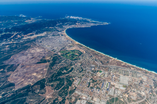 City of Monterey - California「Aerial view, Monterey, Monterey Bay, California」:スマホ壁紙(2)