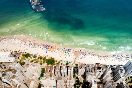 Umbrella「Aerial View of Guaruja Beach in Sao Paulo, Brazil」:スマホ壁紙(19)