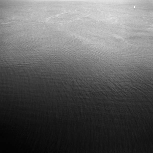 Aerial View of Ocean, Black and White:スマホ壁紙(壁紙.com)