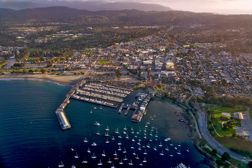 City of Monterey - California「Aerial views of Monterey, California, USA」:スマホ壁紙(5)