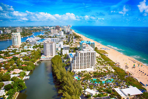 Fort Lauderdale「Aerial View of Coastal Fort Lauderdale」:スマホ壁紙(4)
