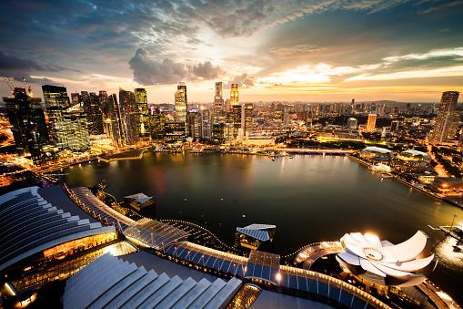 Singapore「Aerial View Over Singapore Marina Bay」:スマホ壁紙(14)