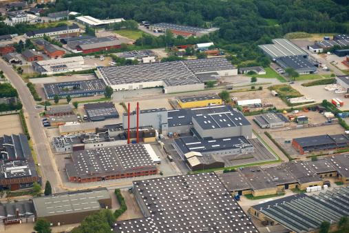 Jutland「Aerial view of a industry zone」:スマホ壁紙(9)