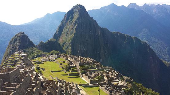Machu Picchu「Aerial view of Macchu Picchu ruins, Cusco, Peru」:スマホ壁紙(5)