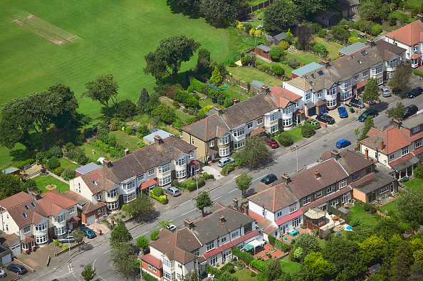 subUrbia - Named Work「Aerial view of East London suburb, Thames Gateway, London UK」:写真・画像(4)[壁紙.com]