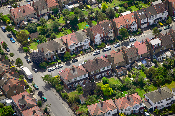 subUrbia - Named Work「Aerial view of East London suburb, Thames Gateway, London UK」:写真・画像(11)[壁紙.com]