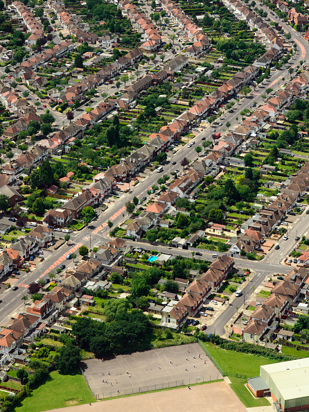subUrbia - Named Work「Aerial view of East London suburb, Thames Gateway, London UK」:写真・画像(12)[壁紙.com]