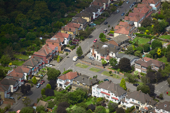subUrbia - Named Work「Aerial view of East London suburb, Thames Gateway, London UK」:写真・画像(9)[壁紙.com]