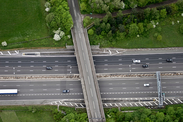 Surrey - England「Aerial view north of M25 east of Merstham near Redhill, Surrey, UK」:写真・画像(13)[壁紙.com]