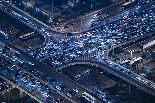 Elevated Road「Aerial View of Beijing Traffic Jam」:スマホ壁紙(9)