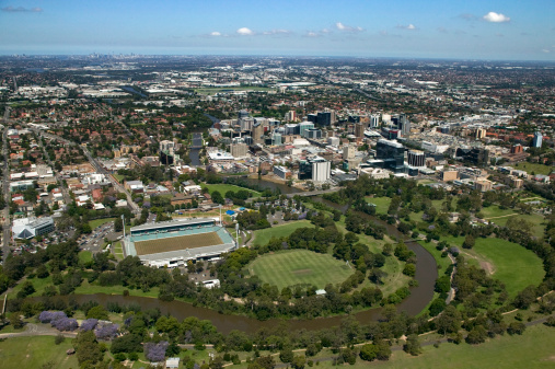 New South Wales「Aerial view of Parramatta, New South Wales, Australia」:スマホ壁紙(16)