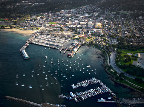 City of Monterey - California「Aerial view over Monterey, California, USA」:スマホ壁紙(1)