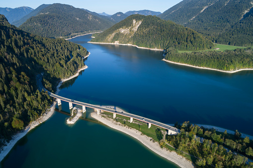 Motorcycle「Aerial view of Bridge and Lake in Upper Bavaria, Germany」:スマホ壁紙(4)