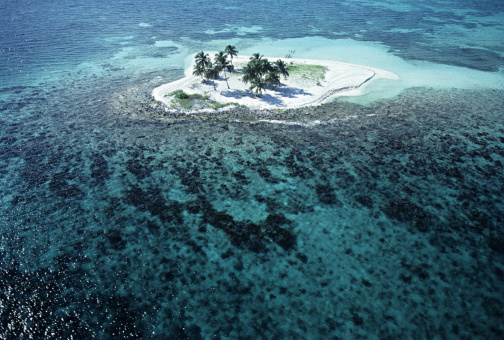 Cay「Aerial view of Caribbean cay, Belize」:スマホ壁紙(12)