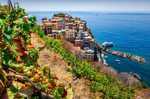 Cinque Terre「Aerial view of Manarola. Cinque Terre. Liguria. Italy」:スマホ壁紙(10)