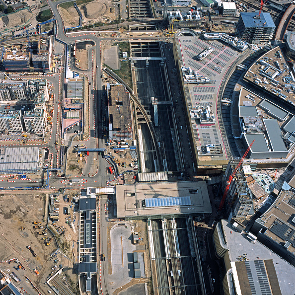 Summer Olympic Games「Aerial view of Stratford Olympic Park Station construction, London, UK.」:写真・画像(15)[壁紙.com]