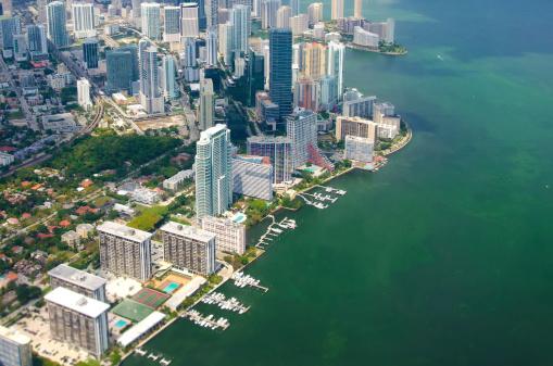 Miami Beach「空から見たスカイラインをマイアミ、フロリダます。」:スマホ壁紙(7)