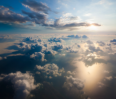 Atmosphere「Aerial view of clouds from the sky」:スマホ壁紙(2)