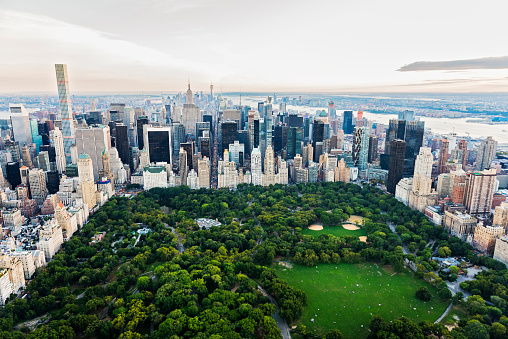 Freedom「Aerial view of Central Park in New York City cityscape, New York, United States」:スマホ壁紙(13)