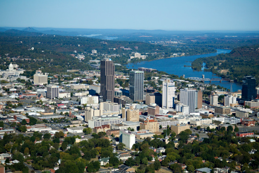 アーカンソー川「Aerial views of downtown Little Rock, Arkansas」:スマホ壁紙(16)