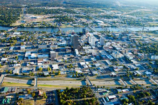 リトルロック「Aerial views of downtown Little Rock, Arkansas」:スマホ壁紙(6)