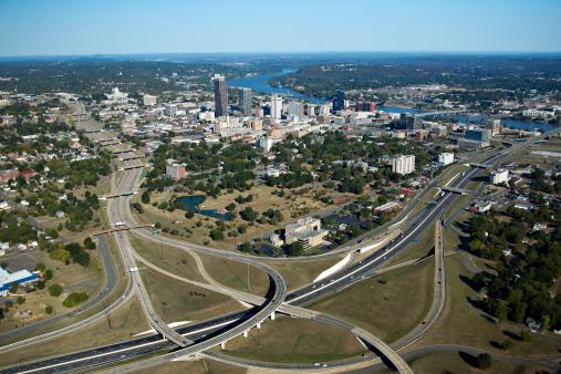 リトルロック「Aerial views of downtown Little Rock, Arkansas」:スマホ壁紙(13)