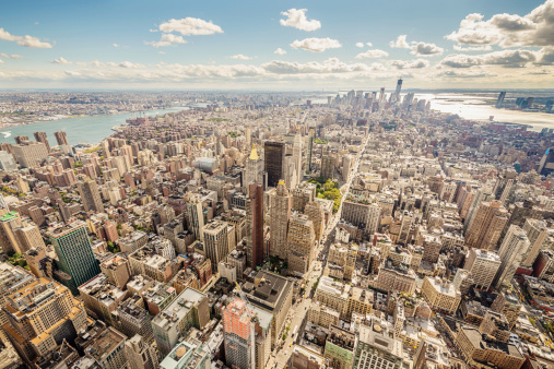 Broadway - Manhattan「Aerial View Cityscape Manhattan New York City USA」:スマホ壁紙(1)