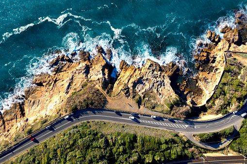 Rock Music「Aerial view of coastal road in Tuscany, Italy」:スマホ壁紙(16)