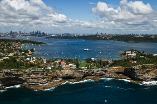 Infamous「Aerial view of the Gap, Watsons Bay, New South Wales, Australia」:スマホ壁紙(4)