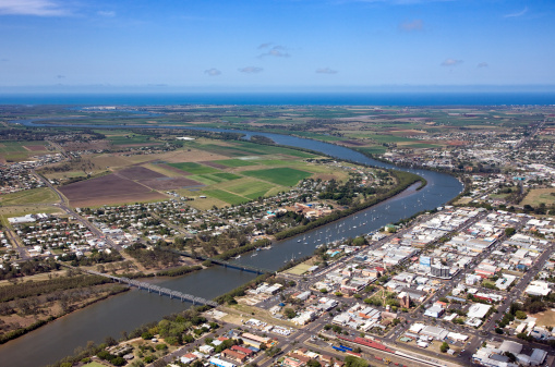 Queensland「Aerial view of Bundaberg, Queensland, Australia」:スマホ壁紙(10)