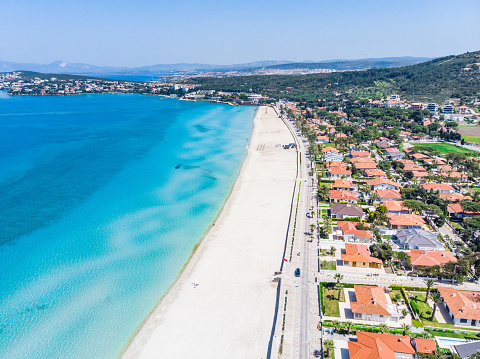 Aegean Sea「Aerial view of Ilica Beach, Cesme - Izmir」:スマホ壁紙(5)
