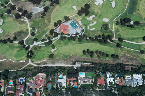 Sand Trap「Aerial view of suburbian housing and golf courses」:スマホ壁紙(5)