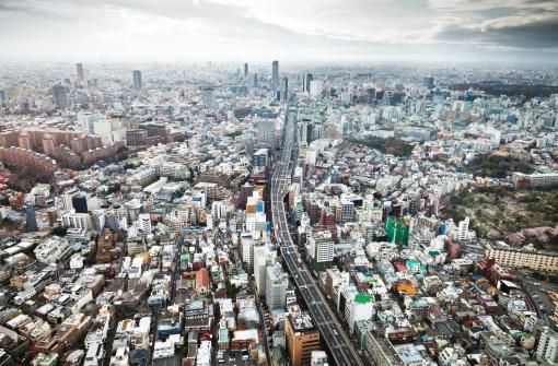Tokyo Tower「Aerial view of the mega city of Tokyo.」:スマホ壁紙(15)
