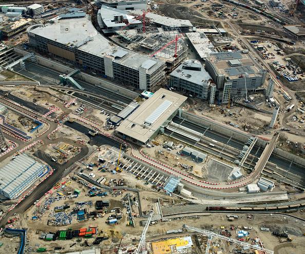 2012 Summer Olympics - London「Aerial view of 2012 Olympic site, Stratford, East London, UK. September 2009.」:写真・画像(9)[壁紙.com]