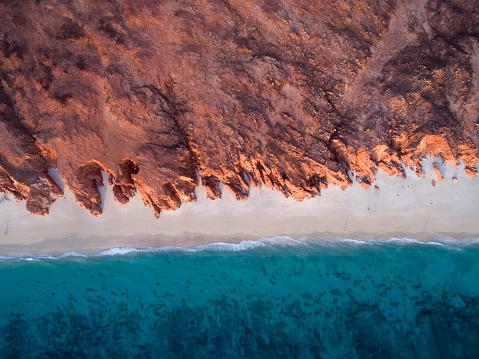 自然の模様「Aerial view of beach, Western Australia, Australia」:スマホ壁紙(15)