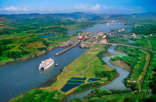 Central America「Aerial view of the Panama Canal.」:スマホ壁紙(1)