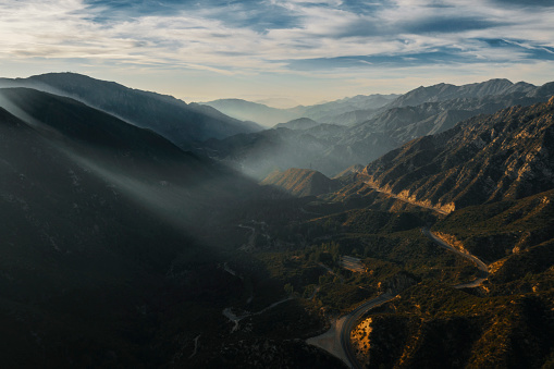Malibu「Aerial view of Mountains and clouds at sunset」:スマホ壁紙(18)