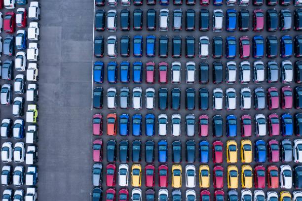Aerial View of parking:スマホ壁紙(壁紙.com)