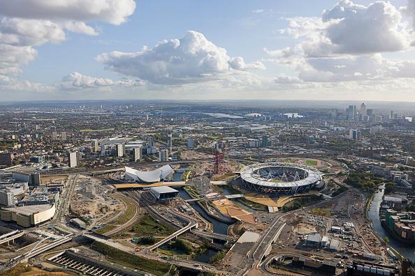 Stratford - London「Aerial view of London 2012 Olympic Park Images taken in November 2011」:写真・画像(19)[壁紙.com]