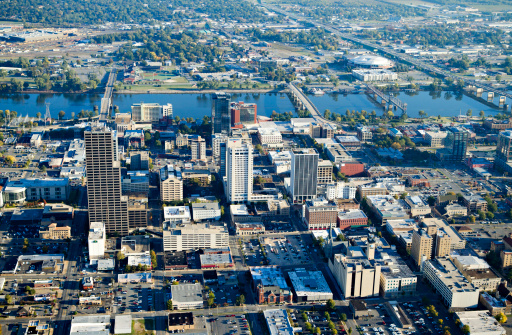 Little Rock - Arkansas「Aerial view of downtown Little Rock, Arkansas」:スマホ壁紙(5)
