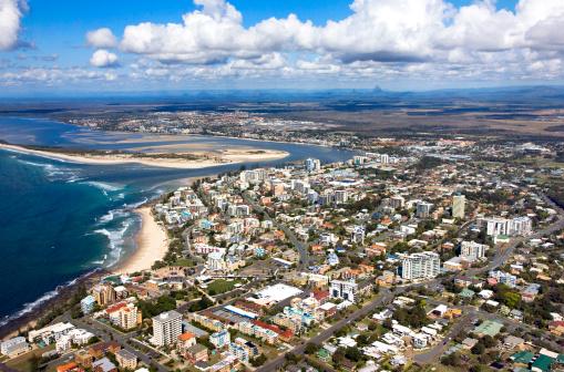 Queensland「Aerial view of Caloundra, Sunshine Coast, Queensland, Australia」:スマホ壁紙(7)