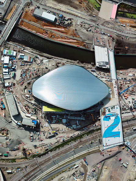 2012 Summer Olympics - London「Aerial view of the Aquatics Centre at the Olympic site, London, UK」:写真・画像(7)[壁紙.com]