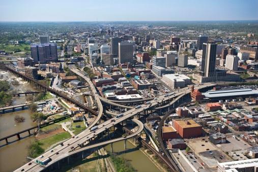 Richmond - Virginia「Aerial view of Richmond, Virginia」:スマホ壁紙(11)