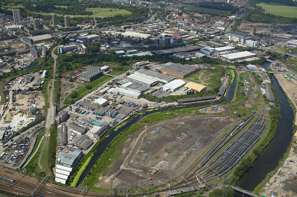 2012 Summer Olympics - London「Aerial view of industrial units Stratford next to the 2012 Olympic Park, Stratford, London, UK 22nd of June 2007」:写真・画像(3)[壁紙.com]