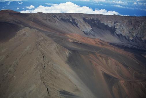 Haleakala Crater「Aerial view of Haleakala Crater, Maui, Hawaii, USA」:スマホ壁紙(11)